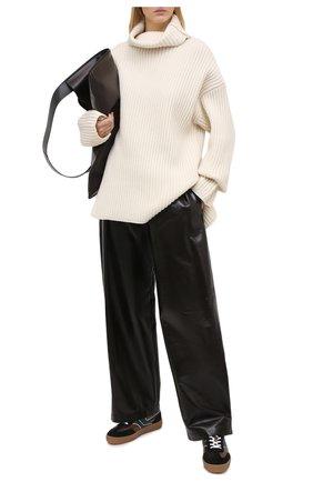 Женские кожаные кеды DRIES VAN NOTEN темно-коричневого цвета, арт. WW202/006/QU120   Фото 2