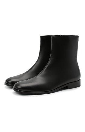 Женские кожаные ботинки DRIES VAN NOTEN черного цвета, арт. WW202/012/H30/QU105 | Фото 1