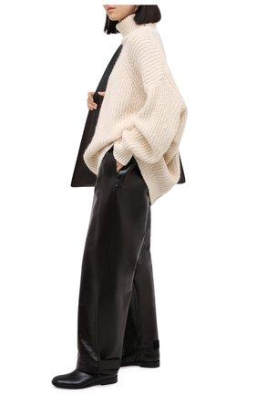Женские кожаные ботинки DRIES VAN NOTEN черного цвета, арт. WW202/012/H30/QU105 | Фото 2