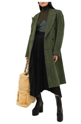 Женские текстильные ботильоны DRIES VAN NOTEN хаки цвета, арт. WW202/016/H60/QU605 | Фото 2