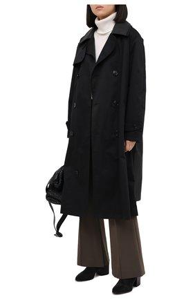 Женские замшевые ботильоны DRIES VAN NOTEN черного цвета, арт. WW202/020/H70/QU104 | Фото 2