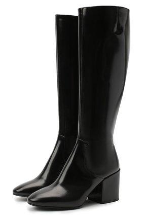 Женские кожаные сапоги DRIES VAN NOTEN черного цвета, арт. WW202/021/H70/QU121 | Фото 1