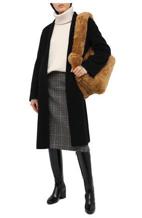 Женские кожаные сапоги DRIES VAN NOTEN черного цвета, арт. WW202/021/H70/QU121 | Фото 2