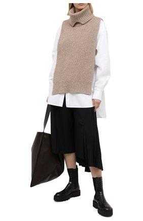 Женские кожаные ботинки DRIES VAN NOTEN темно-коричневого цвета, арт. WW202/049/QU300 | Фото 2