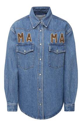 Женская джинсовая рубашка FORTE DEI MARMI COUTURE синего цвета, арт. 20WF8150-04 | Фото 1