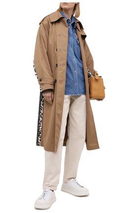 Женская джинсовая рубашка FORTE DEI MARMI COUTURE синего цвета, арт. 20WF8150-04 | Фото 2