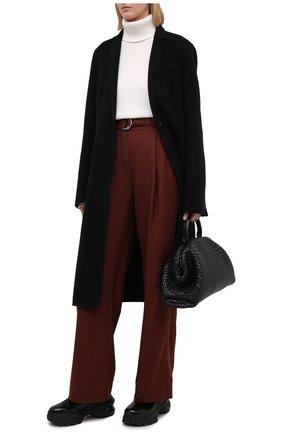 Женские брюки PROENZA SCHOULER WHITE LABEL коричневого цвета, арт. WL2046019-AY120 | Фото 2