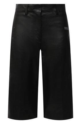 Женские кожаные шорты OFF-WHITE черного цвета, арт. 0WJF004F20LEA0011000 | Фото 1