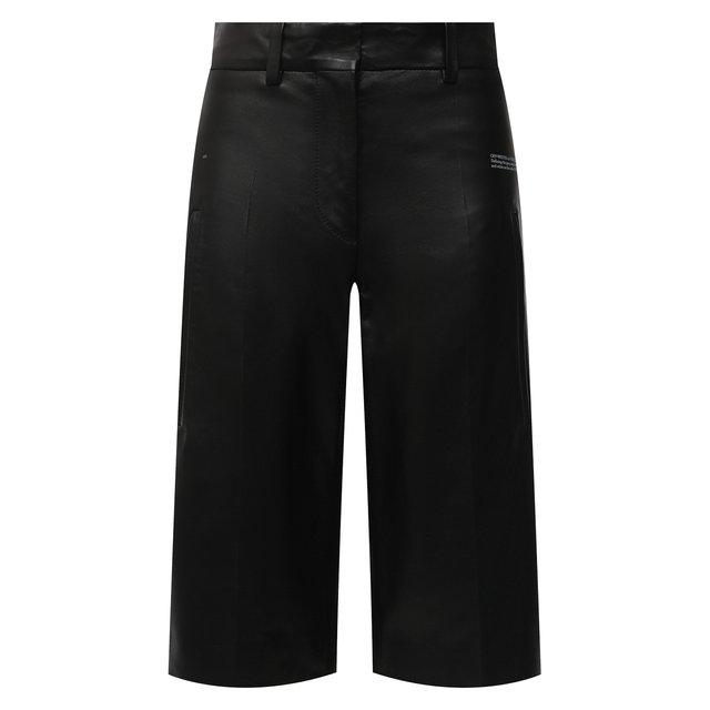 Кожаные шорты Off-White