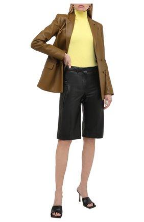Женские кожаные шорты OFF-WHITE черного цвета, арт. 0WJF004F20LEA0011000 | Фото 2