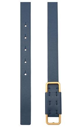 Женский кожаный ремень LORO PIANA синего цвета, арт. FAL4561   Фото 2 (Материал: Кожа)