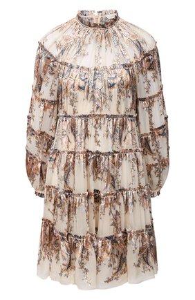 Женское платье из вискозы и шелка ZIMMERMANN бежевого цвета, арт. 9462DLAD | Фото 1