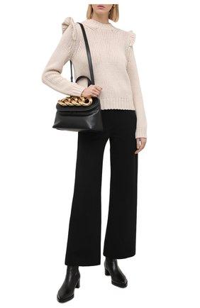 Женский шерстяной свитер ZIMMERMANN кремвого цвета, арт. 8648TLAD | Фото 2