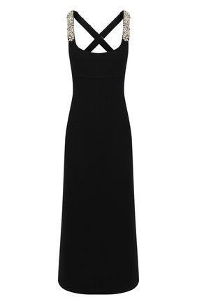 Женское шерстяное платье LANVIN черного цвета, арт. RW-DR373X-4728-H20 | Фото 1