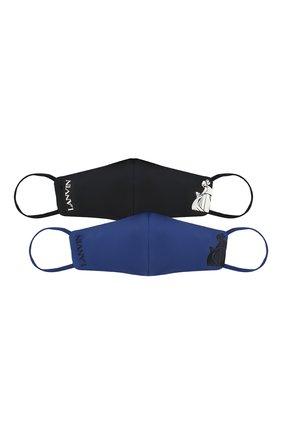Мужская комплект из двух масок для лица LANVIN темно-синего цвета, арт. AW-SI0M02-MDPR-P21   Фото 1