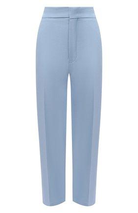Женские брюки из шерсти и хлопка ERIKA CAVALLINI голубого цвета, арт. W0/P/P0WI02 | Фото 1