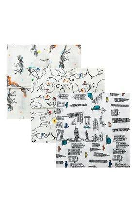 Детского комплект из трех пеленок ADEN+ANAIS разноцветного цвета, арт. 7239 | Фото 1