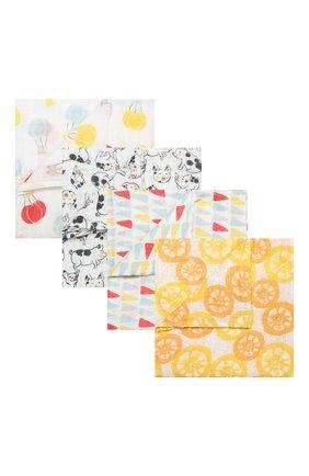 Детского комплект из 4-х пеленок ADEN+ANAIS разноцветного цвета, арт. 2078 | Фото 1