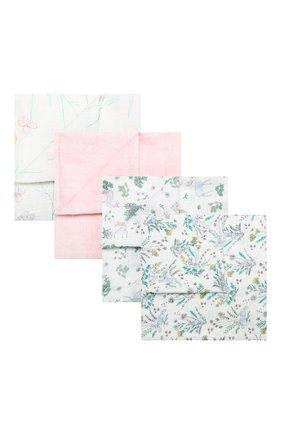 Детского комплект из 4-х пеленок ADEN+ANAIS разноцветного цвета, арт. 2075 | Фото 1
