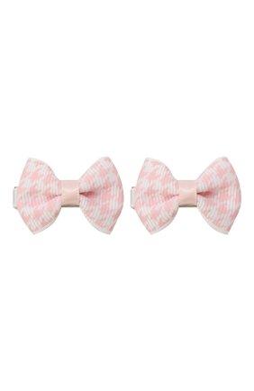 Детская комплект из двух заколок JUNEFEE розового цвета, арт. 6709 | Фото 1