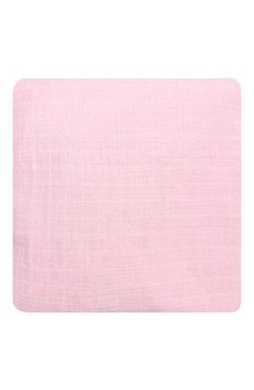 Детского хлопковая пеленка для пеленального стола ADEN+ANAIS розового цвета, арт. 8604G   Фото 1