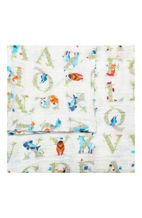 Детского комплект из двух пеленок ADEN+ANAIS белого цвета, арт. 4034G | Фото 2