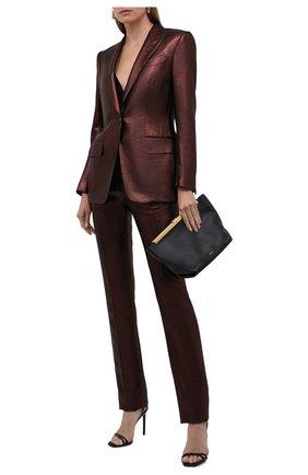 Женский шерстяной жакет TOM FORD светло-коричневого цвета, арт. GI2761-FAX647 | Фото 2