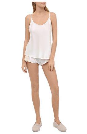 Женские шелковые шорты LA PERLA белого цвета, арт. 0019228/0231 | Фото 2