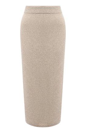 Женская кашемировая юбка RALPH LAUREN кремвого цвета, арт. 293829126 | Фото 1