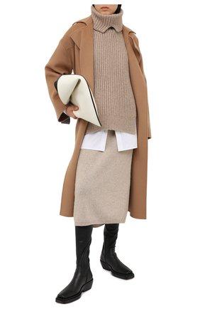 Женская кашемировая юбка RALPH LAUREN кремвого цвета, арт. 293829126 | Фото 2