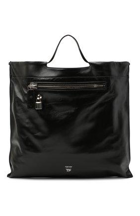 Женский сумка-шопер TOM FORD черно-белого цвета, арт. L1325P-LCL091 | Фото 1