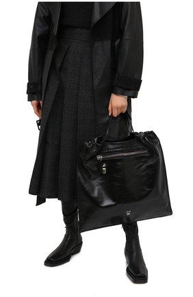 Женский сумка-шопер TOM FORD черно-белого цвета, арт. L1325P-LCL091 | Фото 2