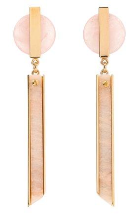 Женские серьги CRYSTALLINE JEWELLERY розового цвета, арт. 359CK | Фото 1