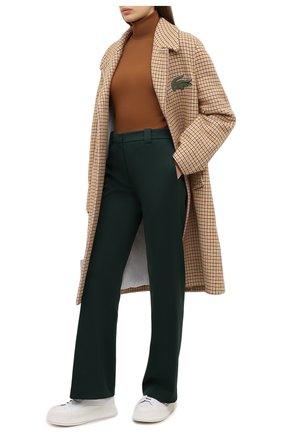 Женские брюки LACOSTE темно-зеленого цвета, арт. HF3072 | Фото 2