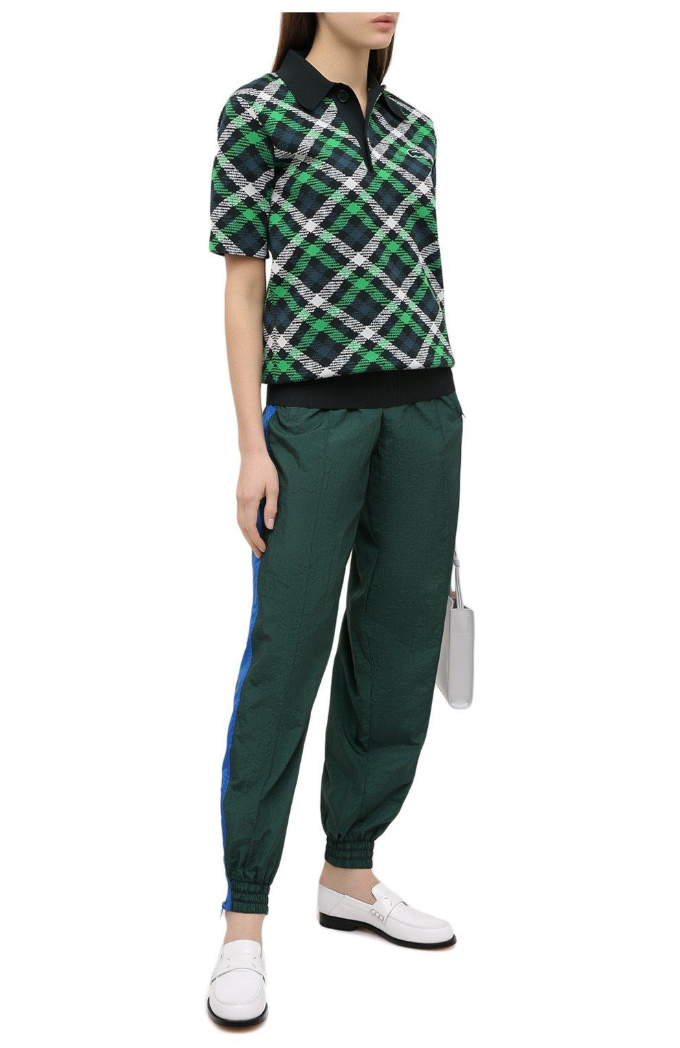 Женские джоггеры LACOSTE зеленого цвета, арт. XH4746   Фото 2