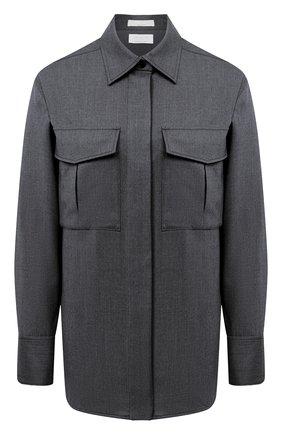 Женская шерстяная рубашка BOSS серого цвета, арт. 50437827 | Фото 1