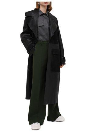 Женская шерстяная рубашка BOSS серого цвета, арт. 50437827 | Фото 2