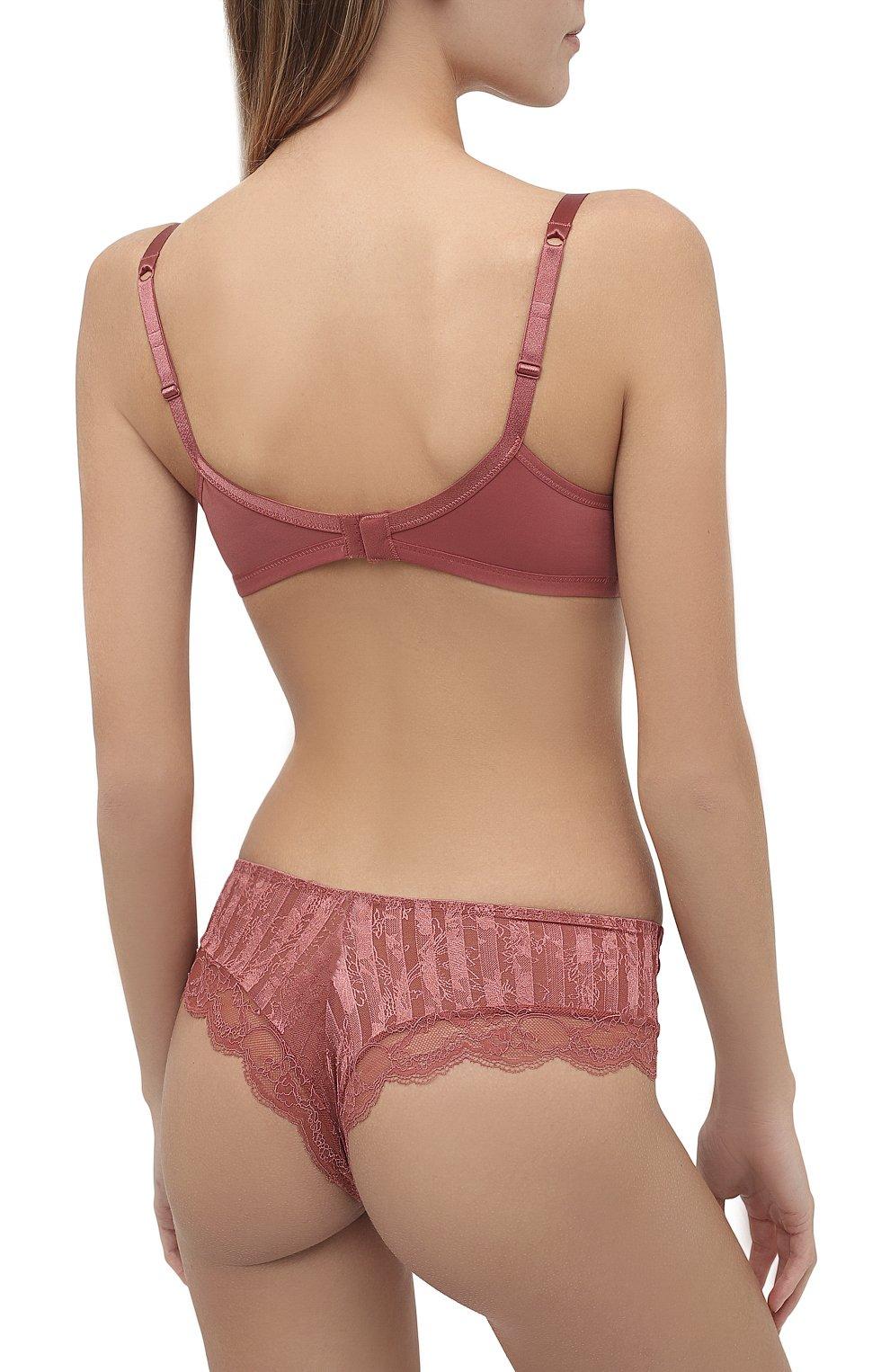 Женские трусы-шорты MAISON LEJABY розового цвета, арт. 20866 | Фото 3 (Материал внешний: Синтетический материал)