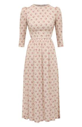 Женское платье из вискозы ULYANA SERGEENKO светло-бежевого цвета, арт. ABM001CLASS (0088т20) | Фото 1