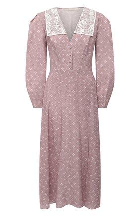 Женское шелковое платье ULYANA SERGEENKO сиреневого цвета, арт. ABM009FW20P (1739т20) | Фото 1
