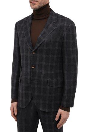 Мужской шерстяной костюм BRUNELLO CUCINELLI темно-серого цвета, арт. MN435LDWHA | Фото 2