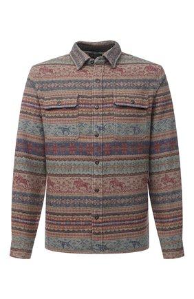 Мужская хлопковая рубашка RRL разноцветного цвета, арт. 782799941 | Фото 1