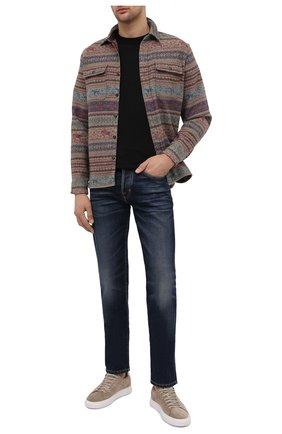 Мужская хлопковая рубашка RRL разноцветного цвета, арт. 782799941 | Фото 2