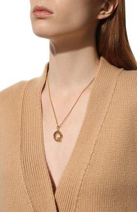 Женская кулон на цепочке alphabet CHLOÉ золотого цвета, арт. CHC20SF02QCB7 | Фото 2 (Материал: Металл)