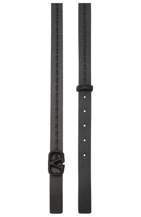 Женский кожаный ремень  VALENTINO черного цвета, арт. UW0T0S12/HEW | Фото 2 (Материал: Кожа)