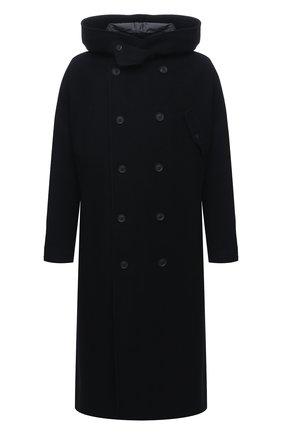 Мужской шерстяное пальто YOHJI YAMAMOTO черного цвета, арт. HR-C11-823 | Фото 1