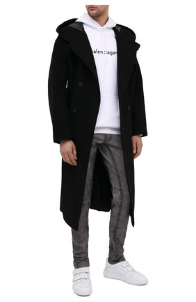 Мужской шерстяное пальто YOHJI YAMAMOTO черного цвета, арт. HR-C11-823 | Фото 2