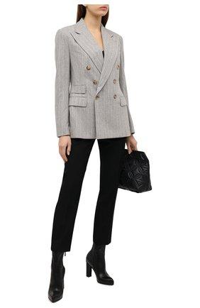 Женский шерстяной жакет RALPH LAUREN серого цвета, арт. 290815781 | Фото 2