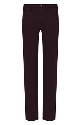 Мужской хлопковые брюки ZILLI фиолетового цвета, арт. M0U-D0160-C0TE1/R001 | Фото 1