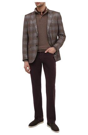 Мужской хлопковые брюки ZILLI фиолетового цвета, арт. M0U-D0160-C0TE1/R001 | Фото 2